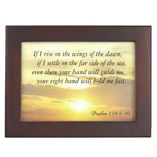 The Bible Psalm 139:9-10 trinket box Keepsake Box