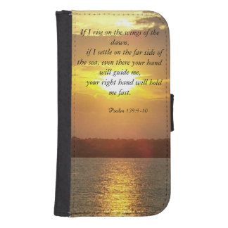 The Bible Psalm 139:9-10 wallet case