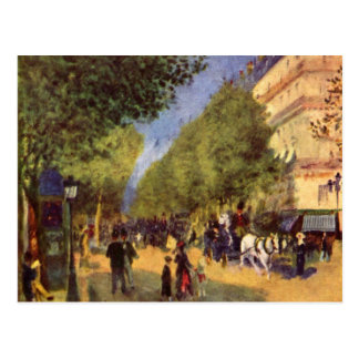 The big boulevards by Pierre Renoir Postcard