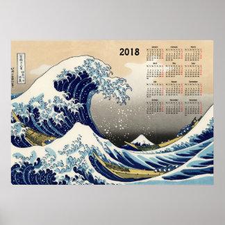 The Big Wave off Kanagawa 2018 calendar Poster