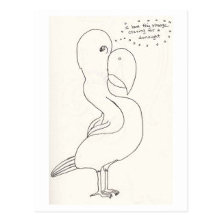 The Bird With The Homer Simpson Head Post Cards