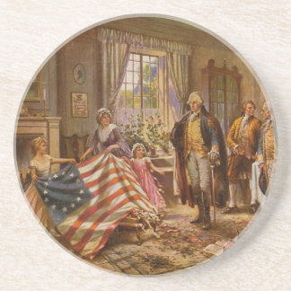 The Birth of Old Glory by Percy Moran Coaster