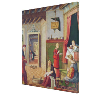 The Birth of the Virgin, 1504-08 Canvas Print