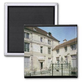 The birthplace of Jean de la Fontaine Square Magnet