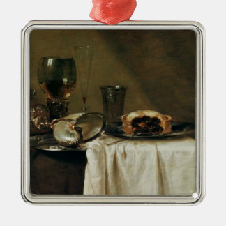 The Blackcurrant Tart, 1635 Silver-Colored Square Decoration