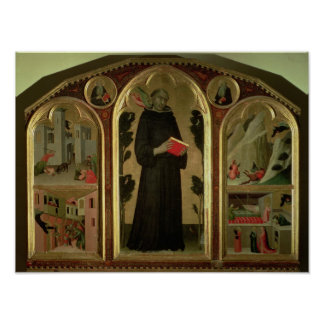 The Blessed Agostino Novello Altarpiece Poster