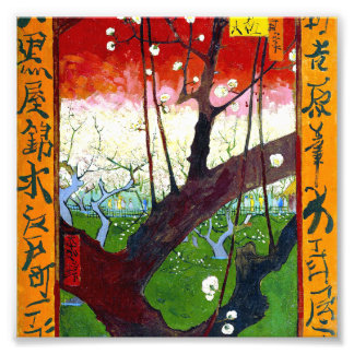 The Blooming Plum tree by Vincent Willem van Gogh Photo Print