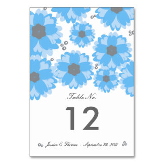 The Blue Blossom Wedding Collection Table Numbers
