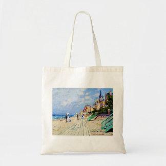 The Boardwalk at Trouville Claude Monet Tote Bag