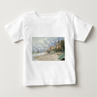 The Boardwalk on the Beach at Trouville by Claude Baby T-Shirt
