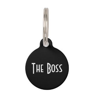 """""""The Boss"""" Cat Tag Pet Name Tags"""