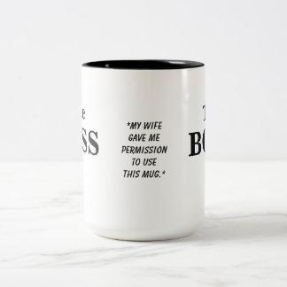 The Boss Husband Humor Mug