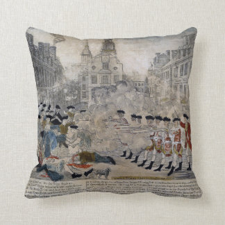 The Boston Massacre by Paul Revere 1770 Cushion
