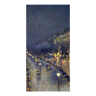 The Boulevard Montmartre at Night Photo Card
