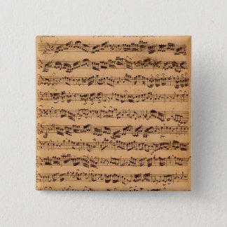 The Brandenburger Concertos, No.5 D-Dur, 1721 15 Cm Square Badge