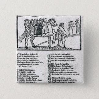 The Brave English Gypsy' 15 Cm Square Badge