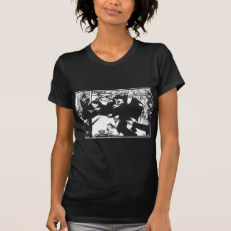 The brawl at the scene or cafe by Felix Vallotton T-Shirt