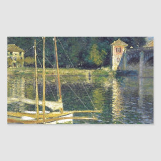 The Bridge at Argenteuil by Claude Monet Rectangular Sticker