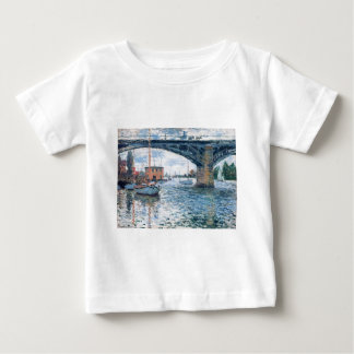 The Bridge at Argenteuil, Grey Weather by Claude Baby T-Shirt