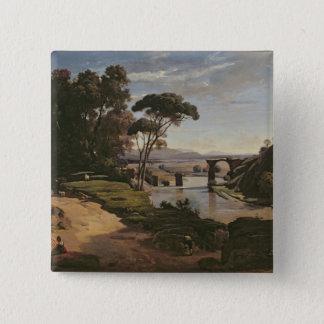 The Bridge at Narni, c.1826-27 15 Cm Square Badge