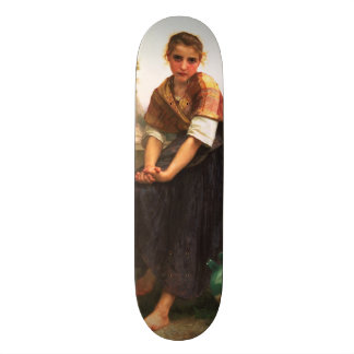 The Broken Pitcher by William-Adolphe Bouguereau Skateboard Decks