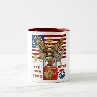 The-Buck-Stops-Here-1 Two-Tone Coffee Mug