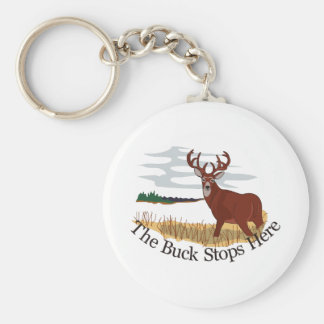 The Buck Stops Here Basic Round Button Key Ring