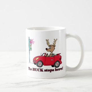 The buck stops here basic white mug