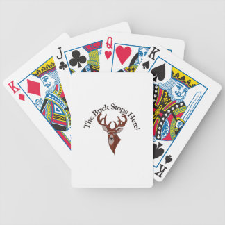The Buck Stops Here! Bicycle Playing Cards