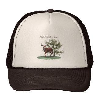 The buck stops here cap trucker hat