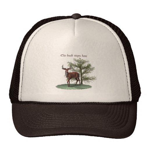 The buck stops here cap mesh hats