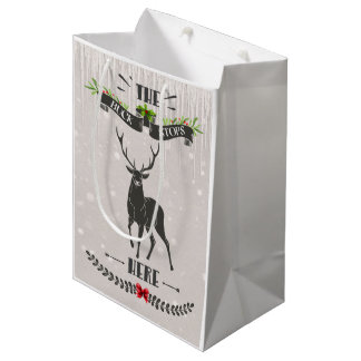 The Buck Stops Here Christmas Deer Gift Bag