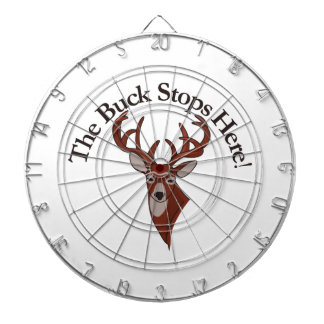 The Buck Stops Here! Dartboard With Darts