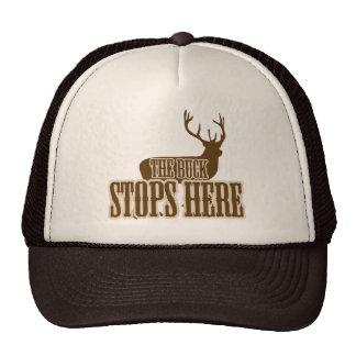 The Buck Stops Here Deer Hunter Mesh Hat