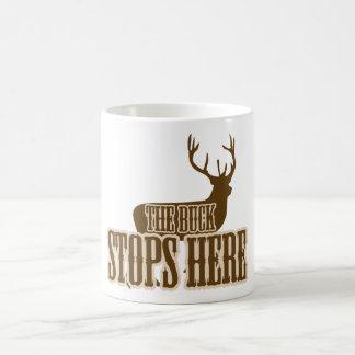 The Buck Stops Here Deer Hunter Coffee Mug