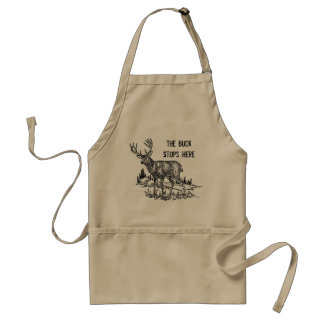 The Buck Stops Here Funny Standard Apron