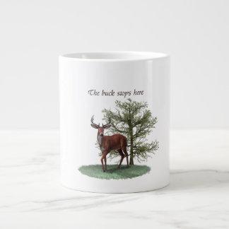 The buck stops here mug 20 oz large ceramic coffee mug