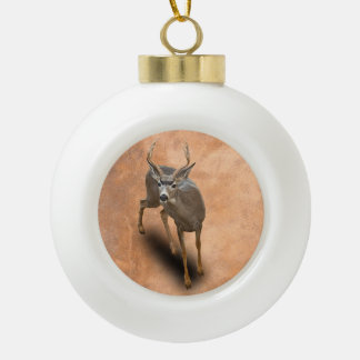 THE BUCK STOPS HERE CERAMIC BALL DECORATION