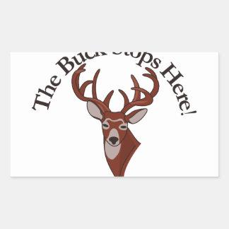 The Buck Stops Here! Rectangular Sticker