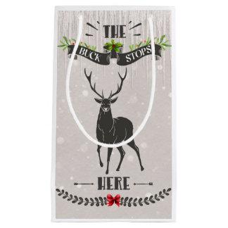 The Buck Stops Here Small Christmas Giftbag Small Gift Bag