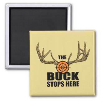 The Buck Stops Here Square Magnet