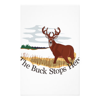 The Buck Stops Here Personalised Stationery