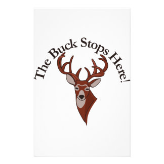 The Buck Stops Here! Personalised Stationery