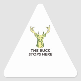 THE BUCK STOPS HERE TRIANGLE STICKER