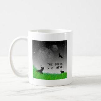 The bucks stop here basic white mug