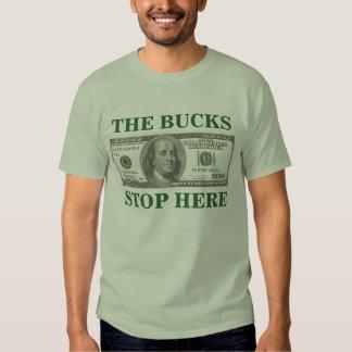 The Bucks Stop Here Shirts