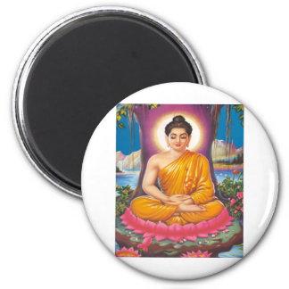 The Buddha 6 Cm Round Magnet