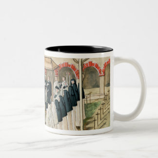 The Burial of a Nun, from 'l'Abbaye de Two-Tone Coffee Mug