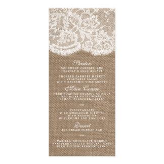The Burlap & Lace Collection Menu Templates Custom Rack Cards