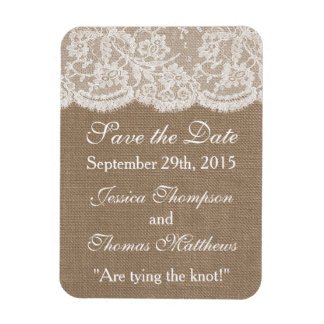The Burlap & Lace Wedding Collection Magnet
